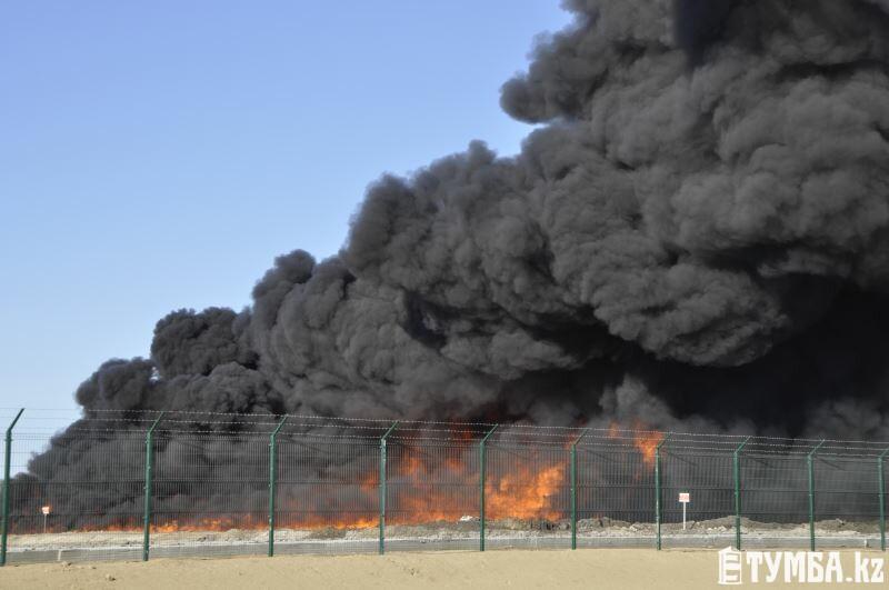 ДЧС Мангистау: Возгорание на ТОО «Эко-Техникс» произошло при сливе нефтешлама