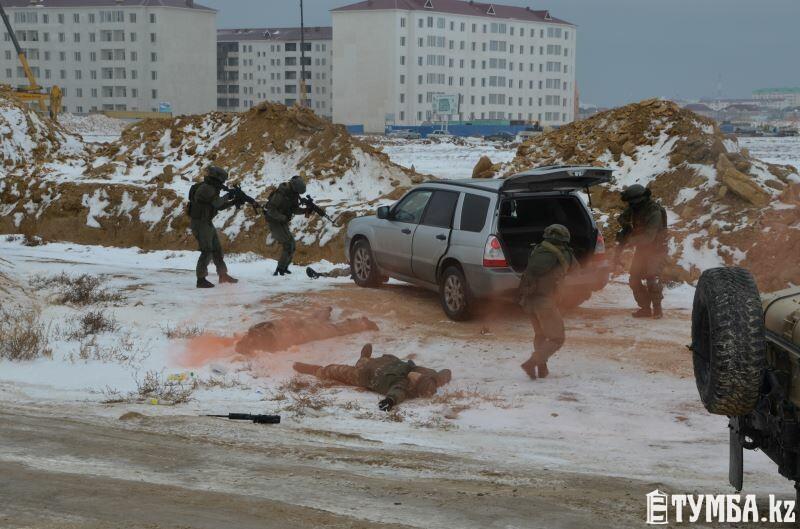В Актау прошли учения «Актау-Блок-Антитеррор-2014»
