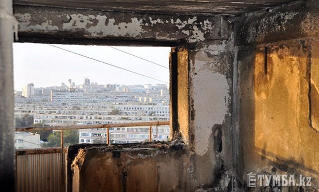 В Актау из-за серьезного пожара 5 семей нуждаются в жилье